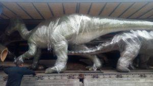 Грузоперевозка динозавра